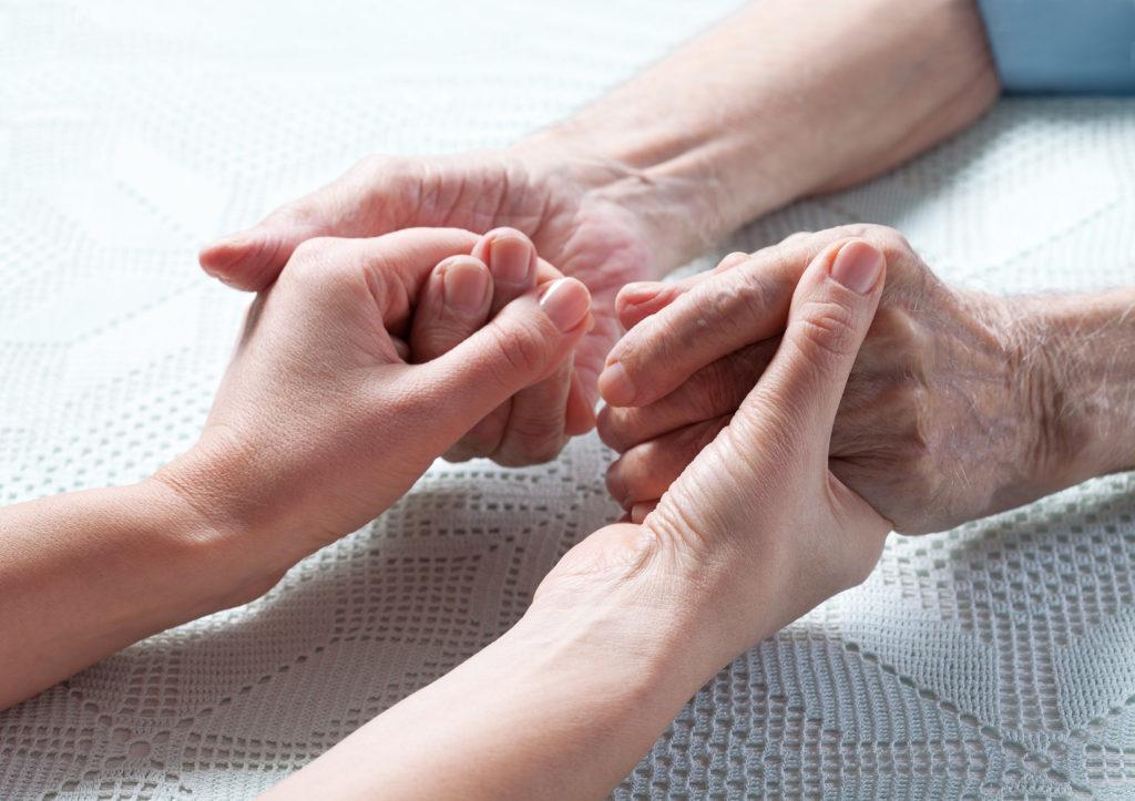 Hände die sich berühren